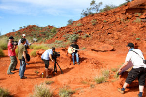 Filming in the Outback